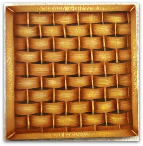 Wood Basket Weaving Supplies : A painting basket weave pattern for you