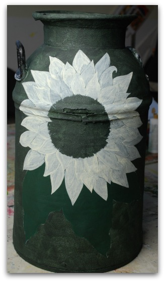 An Antique Milk Can Decorative Painting