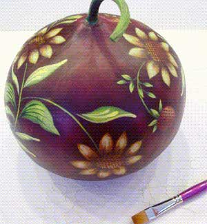 Painted Gourd How To Paint On Gourds For Fun Or Profit