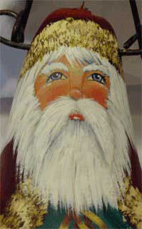 Santa face close up