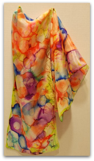 Fun Hand Painted Silk Scarves Using Permanent Markers