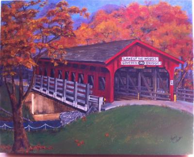 Covered Bridge by Laurie Parker, IL