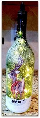 Festive Holidays Wine Bottle