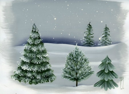 how to paint trees detailed instructions