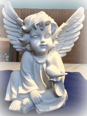 Plastic angel before painting