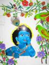 Krishna with birds