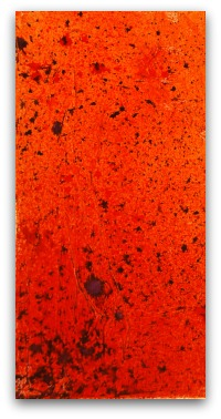 Use DecoArt Media Misters to add spatter and mist to the canvas.  Try Orange, Red and Purple.  Cool effect!