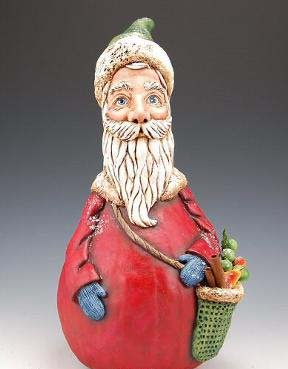 Father Christmas - Hand painted gourd