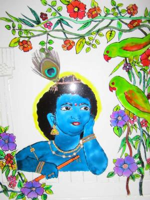 Krishna with birds