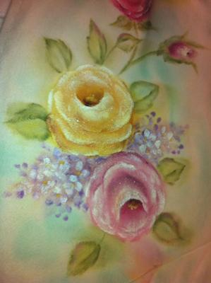 Rose Floral on Fabric